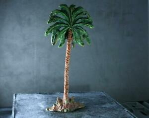 COMPOSITION ELASTOLIN Plam Tree Silhouette ~18cm Height Green ~9cm Width L