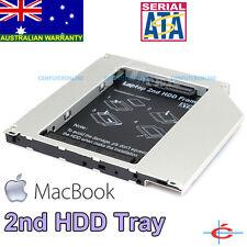 "MacBook CD-ROM Optical Drive Bay adding 2nd 2.5"" SATA HDD Hard Drive Caddy Tray"