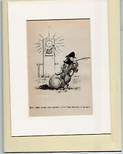 Thelwell Comical Horse Pony Rider Original Vintage  Bookplate mounted