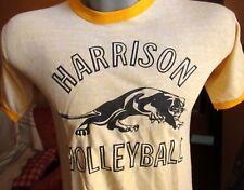Russell Rayon Blend Medium True Vtg 80s Golden/Yellow Gym Class T-shirt Usa