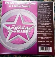 LEGENDS KARAOKE CDG BRENDA LEE,LESLIE GORE,CONNIE FRANCIS #48 17 SONGS CD+G