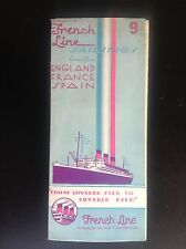 Dépliant Brochure French Line 1934 compagnie maritime Transatlantique Sailings