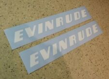 """Evinrude Vintage Outboard Motor Decal 9"""" White FREE SHIP + FREE Fish Decal!"""