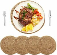 4/6Pack Natural Water Hyacinth Woven Placemats Braided Heat Resistant Table mats