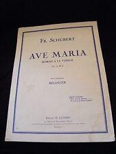 Partitura Ave Maria Fr Schubert Grande Formato