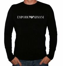 Crew Neck Long Sleeve Fitted ARMANI T-Shirts for Men