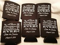 love laughter Custom Wedding Koozies 9536 1 to 300 Personalized party favors