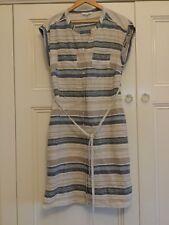 W Lane Ladies Size 12 Striped Linen Dress Excellent Condition.