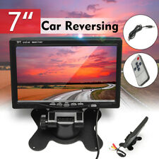 "7"" TFT-LCD Reversing Monitor+Rear View Back Up Camera Kit For Trailer Truck Bus"