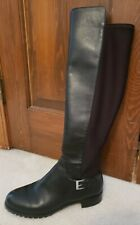 MICHAEL KORS SZ. 8.5  Bromley Flat Leather Over The Knee Boot Black
