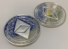 Ethereum Classic ETH Silver Plated Crypto 1.2 oz Collectible Novelty Coin