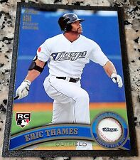 ERIC THAMES 2011 Topps Update BLACK SP 50/60 Rookie Card RC Logo HOT Brewers