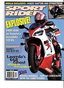 Sport Rider Magazine April 1998 Laverda 668 Ghost Yamaha YZF-R1 Muzzy Raptor 850
