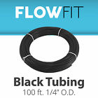 Express Water Black 1/4  Quarter Inch PE Tubing for Reverse Osmosis System 100FT