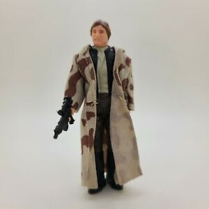 Vintage Toys 1984 Star Wars Han Solo Action Figure with Trench Coat & Gun