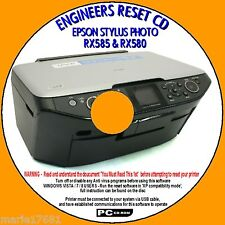 EPSON STYLUS RX585 RX580 rx590 STAMPANTE rifiuti Ink Pad CONTATORE Reimposta FIX PCCD NUOVO