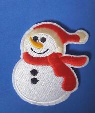 Cute Christmas Snowman Iron on / Sew on patch/Applique - Xmas Jumper Decoration