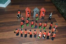 Rare lot of Vintage J. Hill britains etc Lead Toy Soldiers Marching Band guards