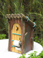 Miniature Dollhouse FAIRY GARDEN Furniture ~ Woodland Outhouse ~ NEW