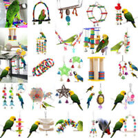 Pet Swing Bird Toy Parrot Rope Harness Cage Hang Toys Parakeet Cockatiel Bridge