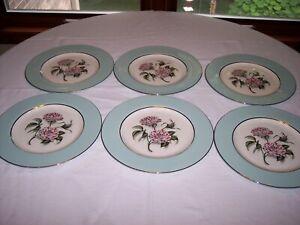 "Set of 6 NANCY PRENTISS Rosa Mundi 10 3/4"" Dinner Plates"