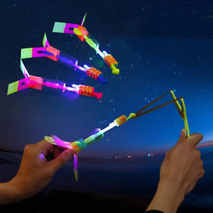 1pc New Light Shoot Rocket Flying Parachute Sky Outdoor Night Game Kid GiftToy