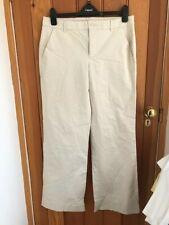 gap beige cotton twill wide trousers uk 12 regular bnwt