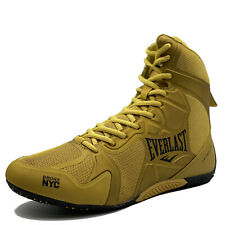 Everlast Ultimate Pro Boxing Boots (Shoes) Boxerstiefel Boxschuhe Gold Elm-94F