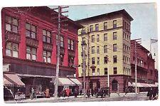 "CORNER OF ASHMAN AND SPRUCE STREETS--""SOO"" MICHIGAN-- 1912 POSTCARD"