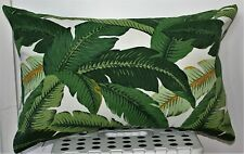 Weather resistant Retro Tommy Bahama Banana leaf outdoor 2 sided cushion covers