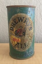 Vintage Drewrys Ale Beer Can Flat Top Breweriana Empty 12 oz