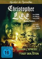 CHRISTOPHER LEE DOUBLE FEATURE - HORROR EXPRESS & STADT DER TOTEN   DVD NEW