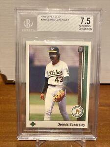 1989 Upper Deck Dennis Eckersley BGS 7.5 Oakland Athletics