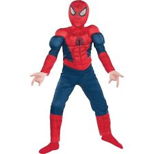 Spider Man Teen Costume Muscle Costume Outfit Suit Fits 34-46 Jacket Size