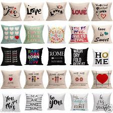 Vintage LOVE Letter Square Pillow Cover Pillowcase Zipper Closure Cushion Case