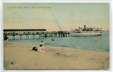 The Pier Steamer Ocean Beach New London Connecticut 1911 postcard