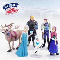 6x Sven Olaf Topper Toy Doll Loose Figurine Anna Figure Frozen Elsa Cake