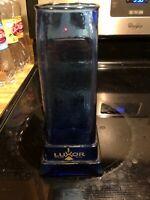 """Luxor Hotel Casino Las Vegas Souvenir Blue Cocktail Glass Vase 9"""""""