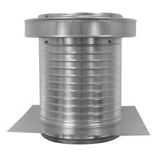 12 inch diameter Aluminum Commercial Keepa Roof Jack Vent Cap with Tail Pipe