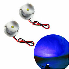 2 pcs BLUE MARINE BOAT LED LIVEWELL COURTESY BOAT LIGHT WATERPROOF FLOOD LAMP
