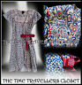 KATE MOSS TOPSHOP BLUE RED YELLOW LIBERTY PRINT WRAP 40s WW2 TEA DRESS UK 8 10