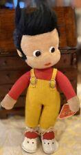 Schuco Pit Boy Doll Bigo Bello Hegi Dralon Plush 28 cm Felt Overalls 1960s Bendy