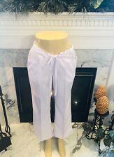 Greys Anatomy Barco nursing medical scrub pants bottoms slacks Large White