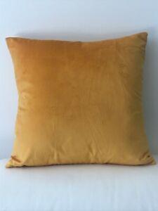 Double Sided Mustard Soft Velvet Cushion Cover Home Decor Handmade 45 x 45