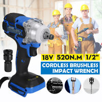 🔥18V 520N.m 1/2'' Impact Wrench Cordless Driver Body For Makita Battery
