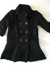 NWT BABY GAP BLACK DRESSY PLEAT COAT WOOL PHOTO OP HOLIDAY COLLECTION GIRLS 4T 4