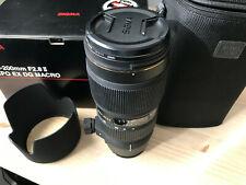 Objetivo Sigma EX 70-200mm f2.8 II APO EX DG MACRO para cámara Sony Alpha.