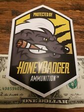 OEM Original Honey Badger Ammunition Ammo Black Hills Vinyl Sticker/Decal