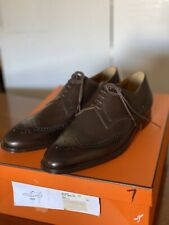 HERMES Men's RAY Derby Shoes Moka Size 40 UK / 7 USA.  NEW With Box & Dust Bags