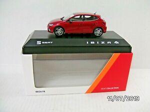 SEAT IBIZA FR  MODEL CAR 1:43 SCALE DESIRE RED 6H1099300HAQ NEW GENUINE